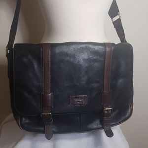 Fossil Canyon leather messenger bag